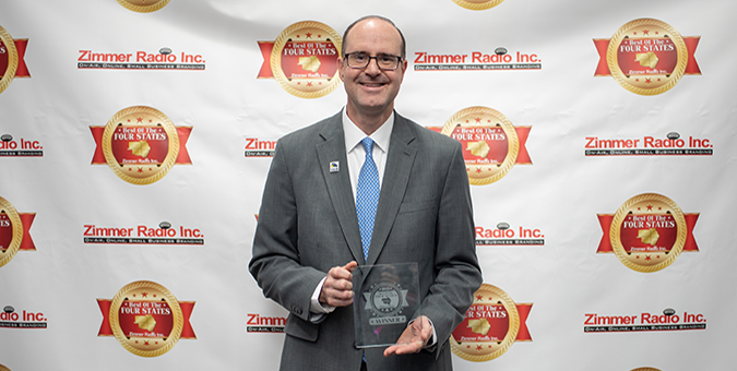 Mark Johnson, Joplin Market President, accepting the Best of the Four States award