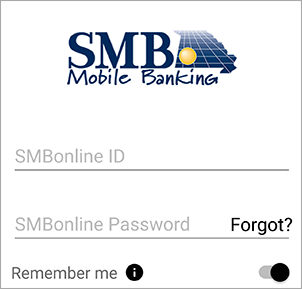 Screenshot of fingerprint login
