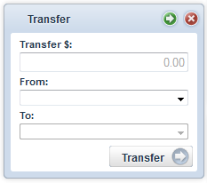 Transfers widget screenshot